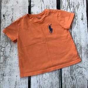 Ralph Lauren Boy's 9M Orange T-shirt